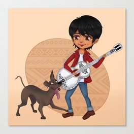 Miguel and Dante - Cute Chibi Canvas Print