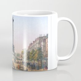 Paris art print Paris Decor office decoration vintage decor PLACE BASTILLE of Paris Coffee Mug