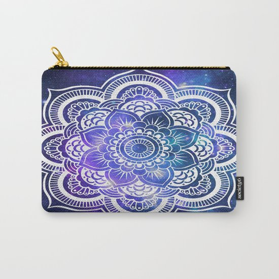 Mandala: Violet & Teal Galaxy Carry-All Pouch