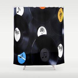 LP 80s Music Shower Curtain