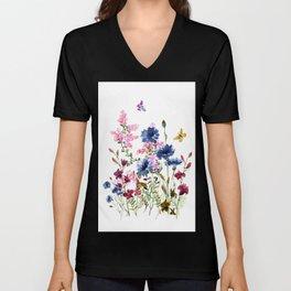 Wildflowers IV Unisex V-Neck