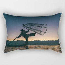 Burmese Fisherman Rectangular Pillow