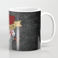 dean winchester Mugs featuring Dean Winchester Crest by Andi Robinson
