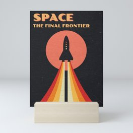 Space - The Final Frontier Mini Art Print