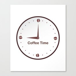 It is the Coffee time - I love Coffee Canvas Print
