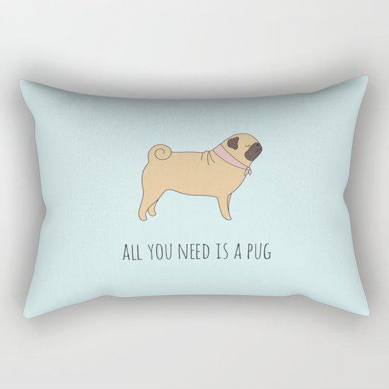 PUG Rectangular Pillow