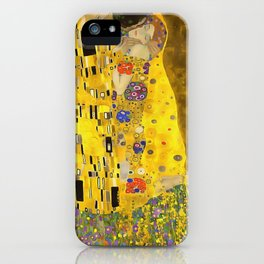The Lovers Kiss After Klimt iPhone Case