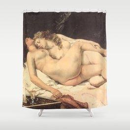 Victorian Lesbians, Gustave Courbet, 1866 Shower Curtain