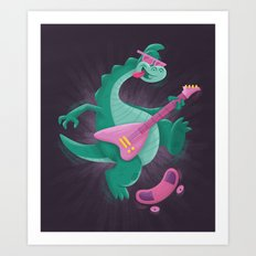 Denver the Last Dinosaur Art Print