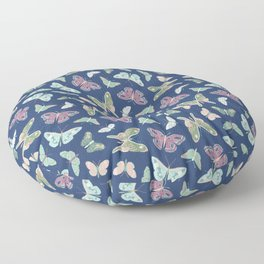 Butterflies [dark] Floor Pillow