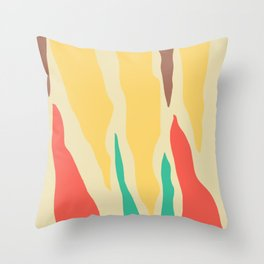 Abstract Mid-Century Modern Stalactites and Stalagmites Throw Pillow