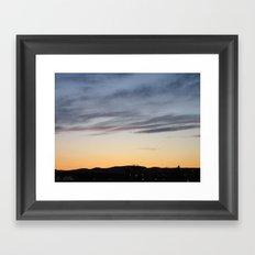 Norwegian Summer Skies Framed Art Print