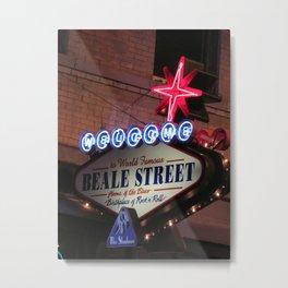 Beale Street, Memphis Metal Print