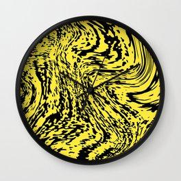 Aggressive yellow marble pattern Wall Clock