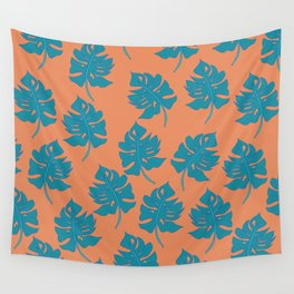 Monstera Leaf Pattern - Version One Wall Tapestry