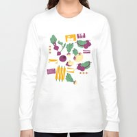 vegetables Long Sleeve T-shirts featuring Root Vegetables by Lucilight