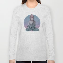 Buddha with cat2 Long Sleeve T-shirt