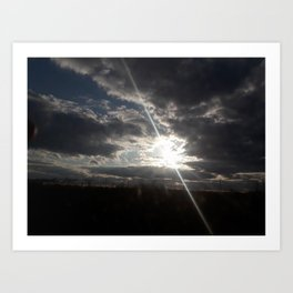 The Heavenly Sun Hiding Art Print