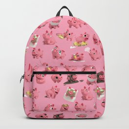 Rosa the Pig Pattern Backpack