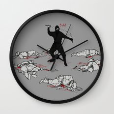 Racist Ninja Wall Clock