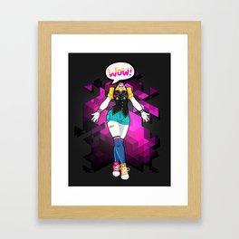 NEVER THE LESS, THIS NERD KICKED ASS! Framed Art Print