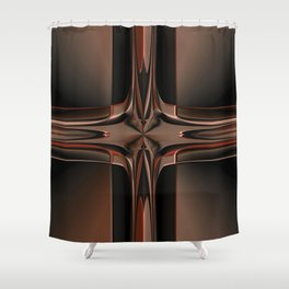 Abstract 350 Shower Curtain