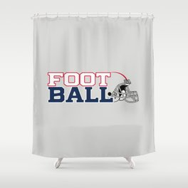 Futbol en Massachusetts Shower Curtain