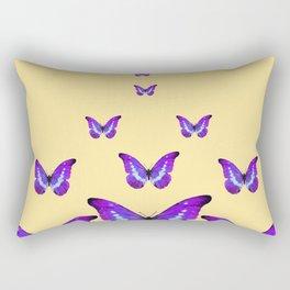 AMETHYST PURPLE BUTTERFLIES FLOCK CREAMY YELLOW Rectangular Pillow