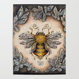 Crystal bumblebee Poster