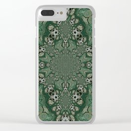 The Green Unsharp Mandala 8 Clear iPhone Case