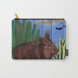 Javelina on Pallet Carry-All Pouch
