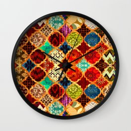 -A32- Epic Colored Traditional Moroccan Artwork. Wall Clock