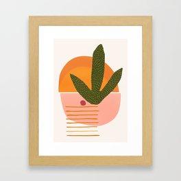 Desert Sunset With Cactus and Cherry Framed Art Print