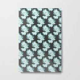 Roses Monochrome Pattern Metal Print