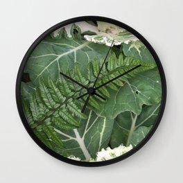 Fern on Cabbage Wall Clock