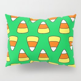 Green Candy Corn Pillow Sham