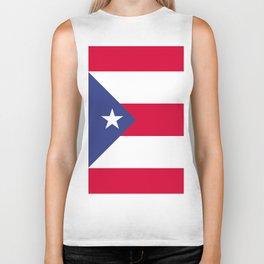Puerto Rico flag emblem Biker Tank