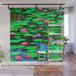 Homage to Ponds, Lilies and Lily Pads Wall Mural