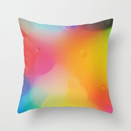 misc fantasy color drops D Throw Pillow