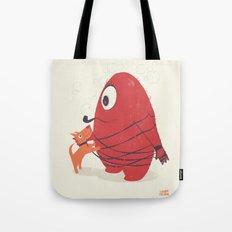 Cyclopes Monster Blob & Orange Dog Tote Bag