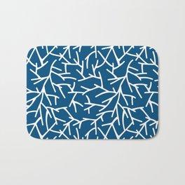 Branches - Blue Bath Mat