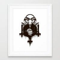 satan Framed Art Prints featuring Satan by Lunaramour