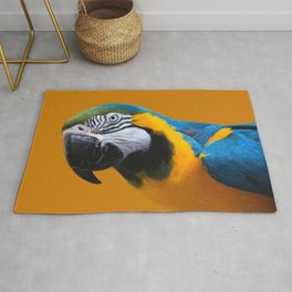 Macaw Parrot Photography   Exotic Bird   Tropical   Turquoise   Yellow   Art Print Rug