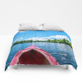Just Keep Paddling Comforters