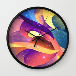Pastel Sparkle Abstract Wall Clock