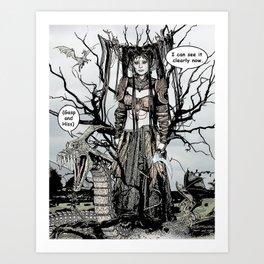 Dragon Queen Comic Illustration 1 Art Print
