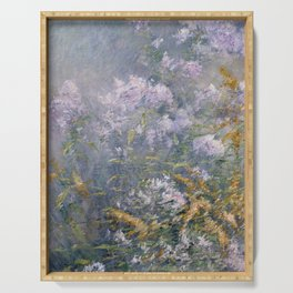 John Henry Twachtman Meadow Flowers (Golden Rod and Wild Aster) Serving Tray