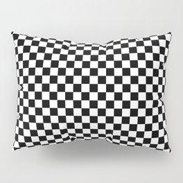 Black White Checks Minimalist Pillow Sham