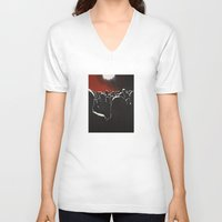 it crowd V-neck T-shirts featuring Crowd by Shelley Chandelier