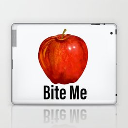 Muérdeme manzana roja Laptop & iPad Skin